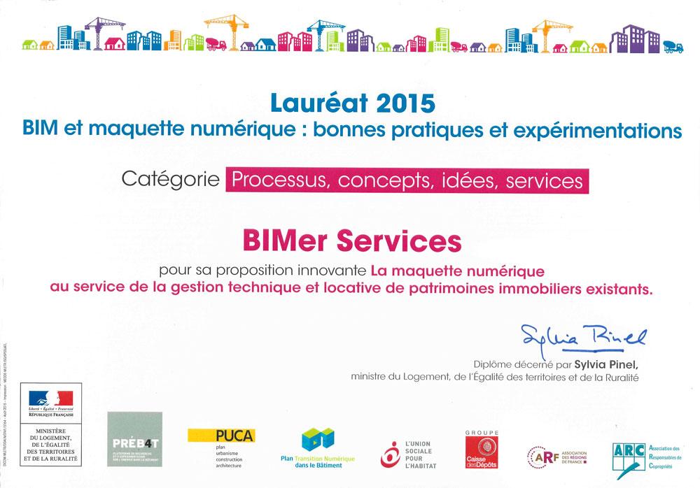 BIMer Services, lauréat du PUCA 2015